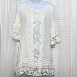 Sanctuary White Crochet Dress